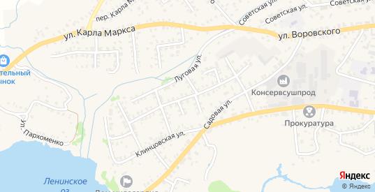 Улица Комарова в Стародуб с номерами домов на карте. Спутник и схема онлайн