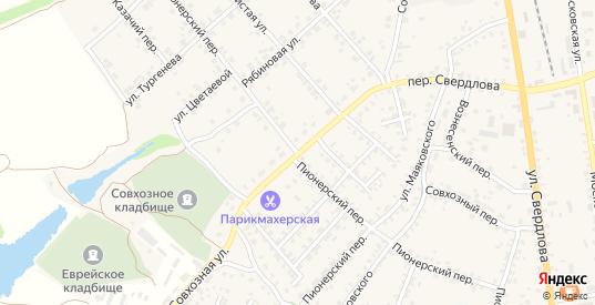Пионерский переулок в Стародуб с номерами домов на карте. Спутник и схема онлайн