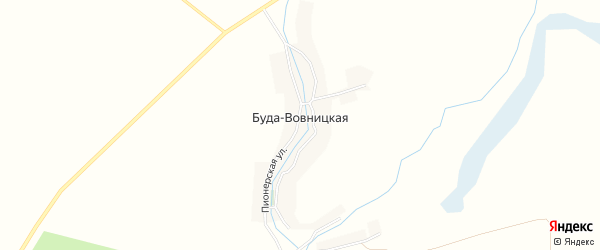 Карта Буды-Вовницкой деревни в Брянской области с улицами и номерами домов