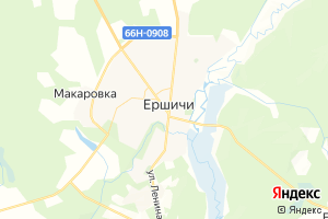Карта с. Ершичи Смоленская область
