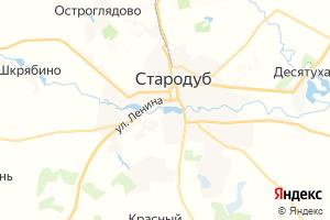 Карта г. Стародуб Брянская область