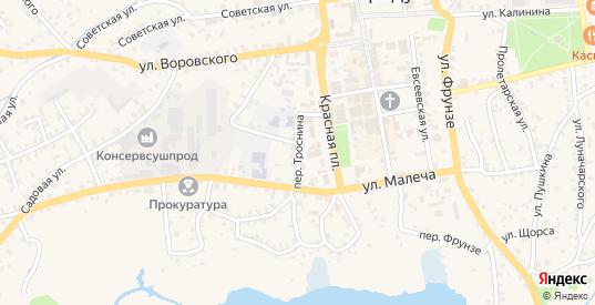Переулок Троснина в Стародуб с номерами домов на карте. Спутник и схема онлайн