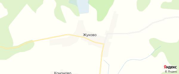 Карта деревни Жуково города Осташкова в Тверской области с улицами и номерами домов