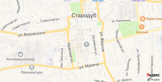 Улица Осипенко в Стародуб с номерами домов на карте. Спутник и схема онлайн