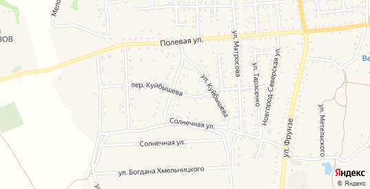 Переулок Куйбышева в Стародуб с номерами домов на карте. Спутник и схема онлайн