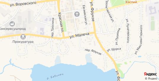 Улица Малеча в Стародуб с номерами домов на карте. Спутник и схема онлайн