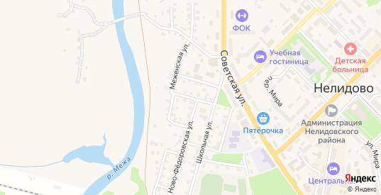 Ново-Федоровский переулок в Нелидово с номерами домов на карте. Спутник и схема онлайн
