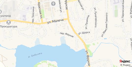 Переулок Фрунзе в Стародуб с номерами домов на карте. Спутник и схема онлайн