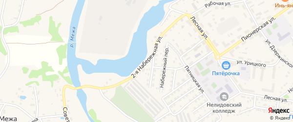 2-я Набережная улица на карте Нелидово с номерами домов