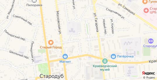 Красноармейская улица в Стародуб с номерами домов на карте. Спутник и схема онлайн