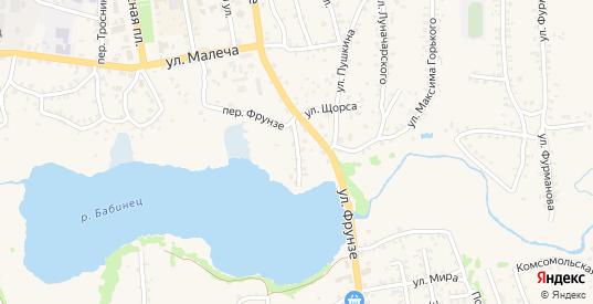 Набережный переулок в Стародуб с номерами домов на карте. Спутник и схема онлайн