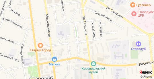 Северный проезд в Стародуб с номерами домов на карте. Спутник и схема онлайн