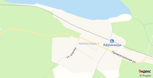 Карта населенного пункта Африканда в Полярные Зори с улицами, домами и почтовыми отделениями со спутника онлайн