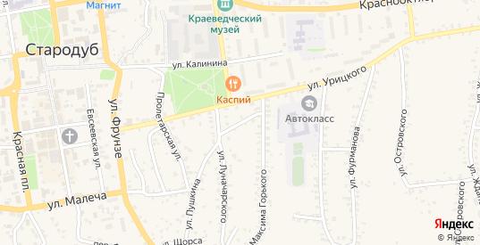 Переулок Горького в Стародуб с номерами домов на карте. Спутник и схема онлайн