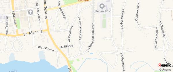 Переулок Луначарского на карте Стародуб с номерами домов