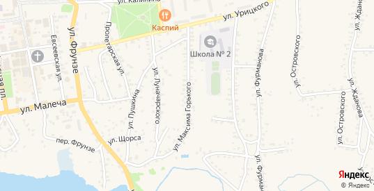 Улица Горького в Стародуб с номерами домов на карте. Спутник и схема онлайн