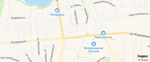 Проезд 60 лет Октября на карте Стародуб с номерами домов