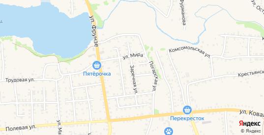 Заречная улица в Стародуб с номерами домов на карте. Спутник и схема онлайн