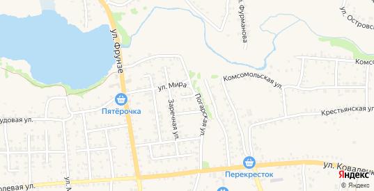 Погарский переулок в Стародуб с номерами домов на карте. Спутник и схема онлайн
