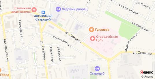Улица Семашко в Стародуб с номерами домов на карте. Спутник и схема онлайн