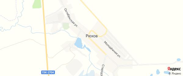 Карта села Рюхова в Брянской области с улицами и номерами домов