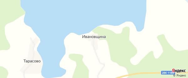 Карта деревни Ивановщина города Осташкова в Тверской области с улицами и номерами домов