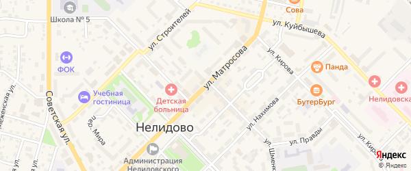 Улица Матросова на карте Нелидово с номерами домов