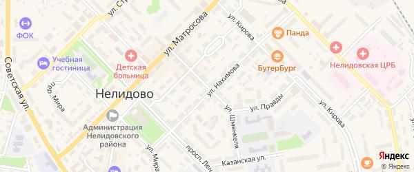 Улица Шменкеля на карте Нелидово с номерами домов
