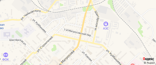Матросовский 1-й переулок на карте Нелидово с номерами домов