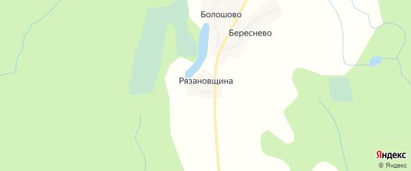 Карта деревни Рязановщина города Осташкова в Тверской области с улицами и номерами домов