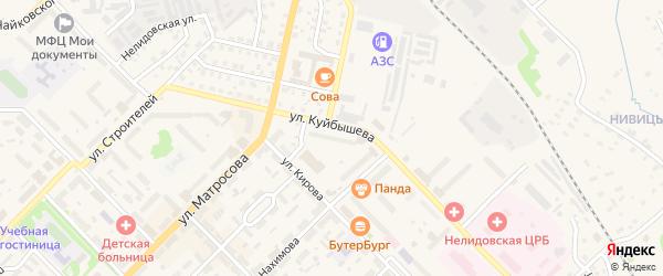 Улица Шахта 11 на карте Нелидово с номерами домов