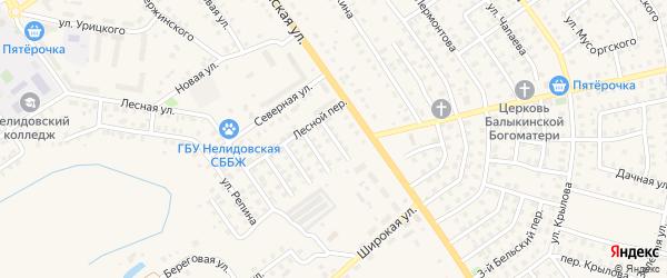 Улица Белинского на карте Нелидово с номерами домов