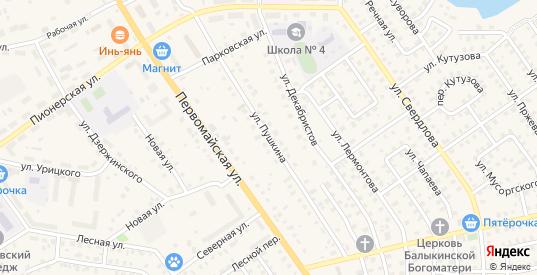 Улица Пушкина в Нелидово с номерами домов на карте. Спутник и схема онлайн
