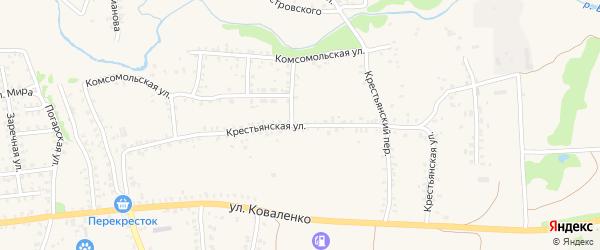 Крестьянская улица на карте Стародуб с номерами домов