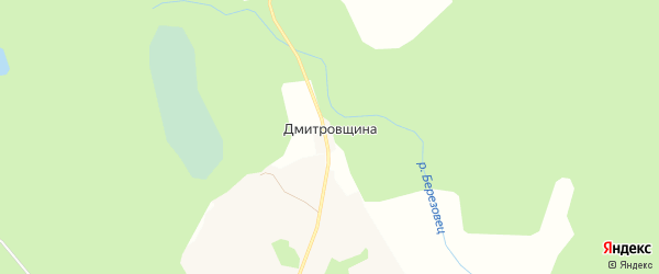 Карта деревни Дмитровщина города Осташкова в Тверской области с улицами и номерами домов