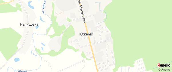 Карта Южного поселка в Тверской области с улицами и номерами домов