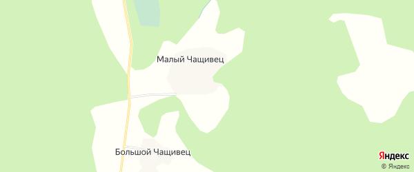 Карта деревни Малого Чащивец города Осташкова в Тверской области с улицами и номерами домов