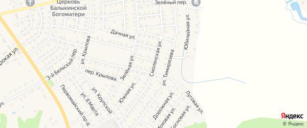 Смоленская улица на карте Нелидово с номерами домов
