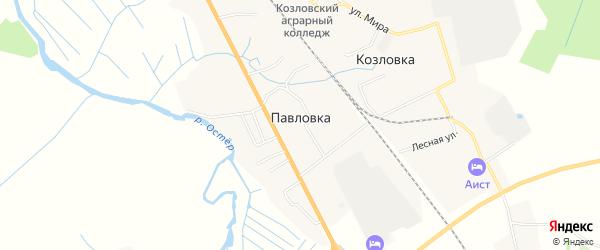Карта деревни Павловка (Остерское с/пос) в Смоленской области с улицами и номерами домов
