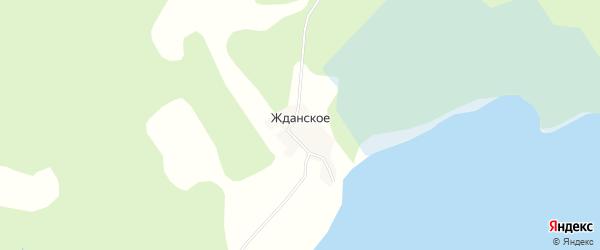 Карта деревни Жданское города Осташкова в Тверской области с улицами и номерами домов