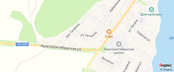 Улица Гагарина на карте поселка Десятухи с номерами домов