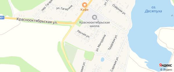 Лесная улица на карте поселка Десятухи с номерами домов