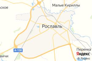 Карта г. Рославль Смоленская область