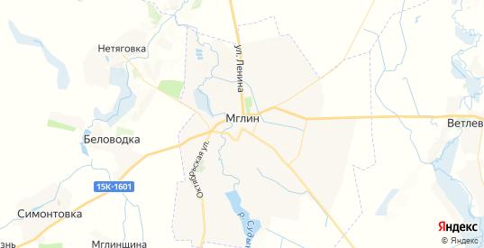 Карта Мглина с улицами и домами подробная. Показать со спутника номера домов онлайн