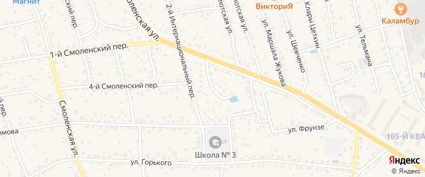 1-й Интернациональный переулок на карте Рославля с номерами домов