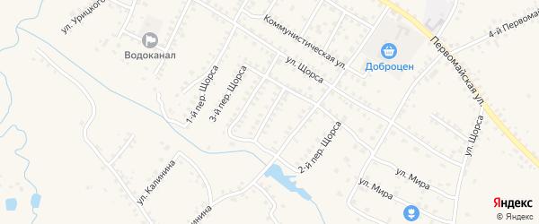 Переулок 3-й Щорса на карте Мглина с номерами домов