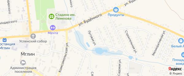 Луговая улица на карте Мглина с номерами домов