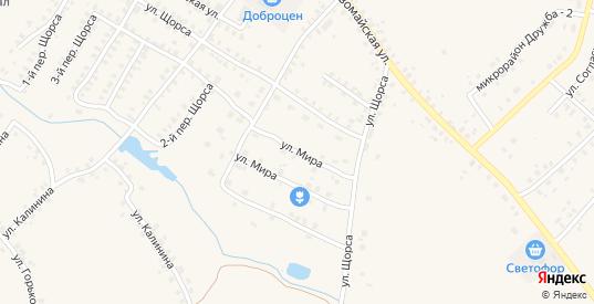 Улица Мира в Мглине с номерами домов на карте. Спутник и схема онлайн