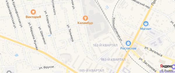 Улица Орджоникидзе на карте Рославля с номерами домов
