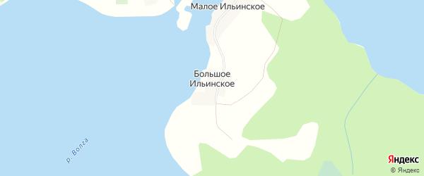 Карта деревни Большого Ильинского города Осташкова в Тверской области с улицами и номерами домов